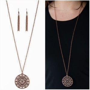 MANDALA MELODY COPPER NECKLACE/EARRING SET